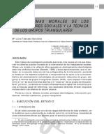 LOS DILEMAS MORALES DE LOS TRABAJADORES SOCIALES Y LA TÉCNICA DE LOS GRUPOS TRIANGULARES (M. Taboada, 2009)
