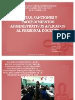 Faltas Sanciones Procedimientos Administrativos Docentes