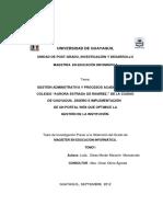 Gestión Administrativa y Procesos Académicos del Colegio Aurora Estrada de Ramírez de la Ciudad de Guayaquil.pdf