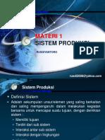 Materi Sistem Produksi 1