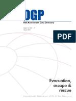 Evacuation, Escape and rescue