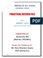 Class Xii Ip Practical File