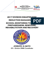 2016 Drrms School Monitoring Tool for Preparedness