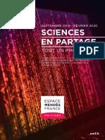 Programme Espace Mendès France septembre 2019 - janvier 2020