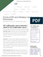 5G Millimeter Wave Tutorial _ What is 5G Millimeter Wave