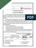 Atividades Diagnósticas de Língua Portuguesa 3º 4º Ano