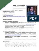 Gonzalo Luis Escobar CV 2019