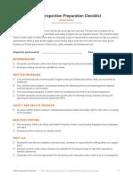 OSHA Inspection Preparation Checklist