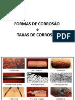 Formas e Taxas de Corrosão 10
