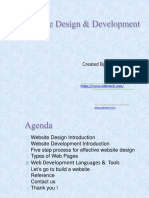 Website Design and Devlopment
