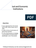 Political and Economic Institutions