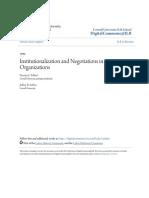 Capítulo 1 - Handbook Organizational Institucionalism