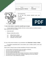 Atividade Avaliativa 2º Bimestre GeoHistória