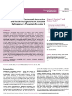 Interhelical Electrostatic Interaction and Rotameric Signatures in Activated Sphingosine1phosphate Receptor 1