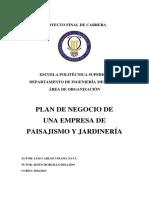 PLAN DE NEGOCIO DE UNA EMPRESA DE PAISAJISMO Y JARDINERÍA