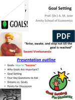 Goal Setting _First Year Graduate Students