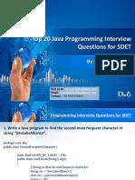 DevLabs Alliance Top 20 Java Programming Interview Questions for SDET
