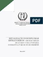 Revalidação de diplomas de estrangeiros