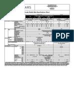 Honda Shuttle Main Specification Sheet