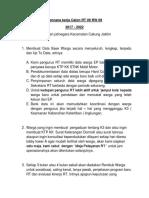 Plan Kerja RT 09 RW 09 Kelurahan Jatinegara Kecamatan Cakung Jaktim