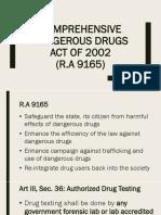 Comprehensive Dangerous Drugs Act of 2002