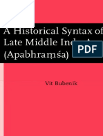 A Historical Syntax of Late Middle Indo-Aryan
