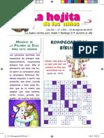 La Hojita de Los Niños 25 de Agosto de 2019