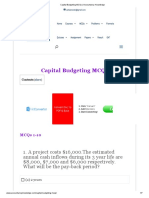 Capital Budgeting MCQs _ Accountancy Knowledge