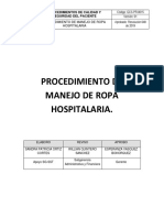 Procedimiento de Manejo de Ropa Hospitalaria