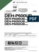 deh- p600 manual de serviço