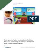 Game Control Using Eeg