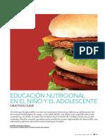 Educación Nutricional en el Niño y el Adolescente