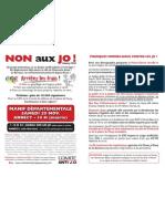 2010-10-29 - Tract Manifestation Anti JO Annecy 2018 Du 20 Novembre 2010
