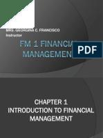 Fm 1 Financial Management