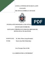 Los Plazos o Terminos en El Proceso Ordinario Penal Nicaraguense