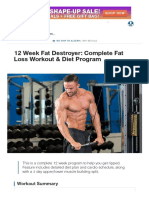 12 Week Fat Destroyer_ Complete Fat Loss Workout & Diet Program _ Muscle & Strength
