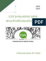 Programa Electoral 20192023 Cuv Manzanareselreal