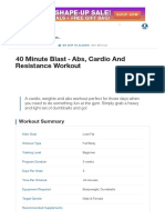 40 Minute Blast - Abs, Cardio and Resistance Workout _ Muscle & Strength