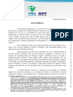 Nota sobre declaração do presidente acerca do desaparecimento de Fernando Santa Cruz