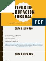 TIPOS DE OCUPACIÓN LABORAL EN ECUADOR