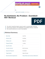 No Kettlebell, No Problem - Dumbbell HIIT Workout _ Muscle & Strength