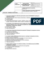 Evaluación Conocimientos de Capacitación