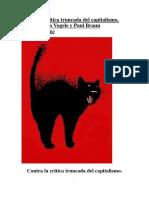 Contra La Crítica Truncada Del Capitalismo Por Johannes Vogele y Paul Braun