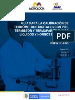 Calibración de Termometros Digitales Con PRT, Termistor y Termopar en Baños Liquidos y Hornos de Bloque Metalico