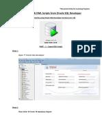 Export DDL DML Oracle SQL Developer
