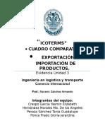 Tabla Comparativa de Las Ventajas y Desventajas de Los Siguientes Incoterms FOB