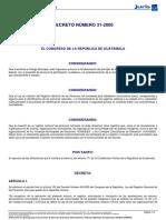Repeju Decreto Del Congreso 31-2006 Noviembre 2013