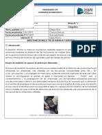 Informe N°3  BRILLO, PIEL DE NARANJA, ESPESOR