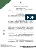 Resolución de la Cámara Federal de Apelaciones de Rosario