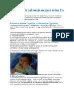 Ejercicios de Estimulación Para Niños 2 a 3 Años